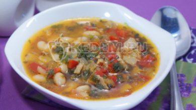Photo of Суп «Минестроне» с фасолью и беконом